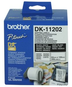 DK11202-White Shipping/Name Badge Labe 62mmX100mm