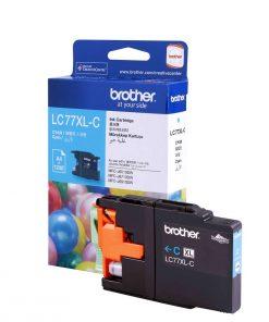LC-77XLC-Brother LC-77XLC Cyan Super High Yield Ink Cartridge- MFC-J6510DW/J6710DW/J6910DW/J5910DW - up to 1200 pages