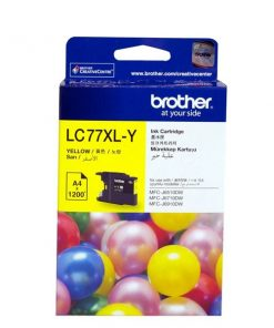 LC-77XLY-Brother LC-77XLY Yellow Super High Yield Ink Cartridge- MFC-J6510DW/J6710DW/J6910DW/J5910DW - up to 1200 pages