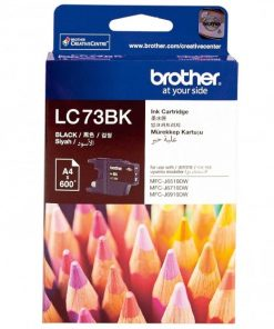 LC73BK-Brother LC-73BK Black High Yield Ink Cartridge- DCP-J525W/J725DW/J925DW