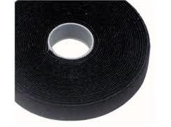 VT25BK-25M-Cabac 25mmx25m Roll Black back to back grip for CAT6 Pro Cable Tie LS