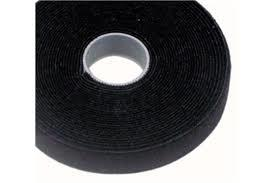 VT25BK-25M-Cabac 25mmx25m Roll Black back to back grip for CAT6 Pro Cable Tie