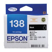 C13T138192-Epson 138 HighCap Black Ink Suits NX420