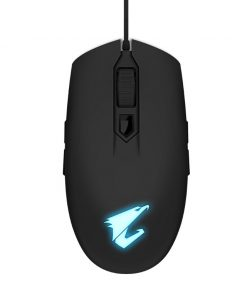 GM-AORUS-M2-Gigabyte AORUS M2 Optical Gaming Mouse USB Wired 6200 dpi 12500 fps 50g 3D Scroll 50 million click Matte Black RGB Fusion On-the-fly DPI Adjustment