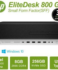 4VT28PA-HP ProDesk 800 G4 SFF Mini Desktop PC Intel i5-8500 8GB DDR4 256GB SSD PCIe DVDRW Windows 10 Pro 3/3/3 Yrs Wty=>7YH11PA