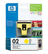 C8773WA-HP 02 AP YELLOWINK CARTRIDGE