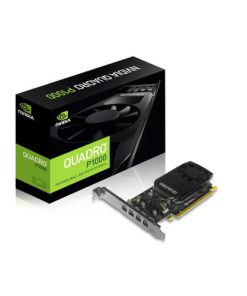 P1000-Leadtek nVidia Quadro P1000 PCIe Workstation Card 4GB DDR5 4xmDP 4x5120x2880@60Hz 128-Bit 82GB/s 640 Cuda Core Single Slot Low Profile ~VCL-K1200DP