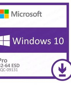 FQC-09131-Microsoft Windows 10 Professional 32bit/64bit - Digital Download