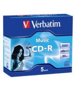 62620-Verbatim CD-R 80Min 5Pk Audio 40x