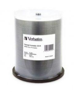 95254-Verbatim CD-R 700MB 100Pk White Wide Thermal 52x - 95254