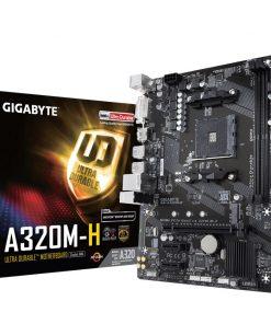 GA-A320M-H-Gigabyte GA-A320M-H Ryzen AM4 mATX MB 2xDDR4 3xPCIE M.2 HDMI DVI RAID Realtek GbE LAN 4xSATA3 4xUSB3.1 ~GA-A320M-HD2