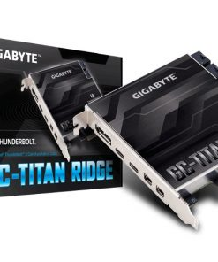 GA-TITAN-RIDGE-Gigabyte TITAN Ridge rev1 Dual Thunderbolt 3 Card for Z390 H370 B360 Z370 Series 3 Ports USB-C 40 Gb/s DisplayPort 1.2 4K Daisy-chain up to 12 Devices