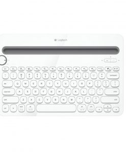 920-006381-Logitech K480 Bluetooth Wireless Multi Device Keyboard White for PC Smartphone Tablet Windows Mac Android iOS