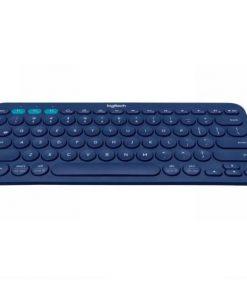920-007597-Logitech K380 Multi-Device Bluetooth Keyboard Blue Take-to-type Easy-Switch wireless10m Hotkeys Switch 1year Warranty
