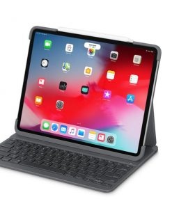 "920-009124-Logitech Slim Folio 12.9"" iPad Pro 3rd gen Bluetooth Backlit Keyboard Smart Connector Foldable Shortcut Magnetic Latch Multiples iOS Shortcuts"