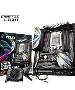 X399 CREATION-MSI X399 Creation AMD E-ATX Motherboard - TR4 Ryzen 8xDDR4 5xPCI-E 3xM.2 SLI/CF 2xTypeC 13xUSB3.1 4xUSB2.0 TPM RGB