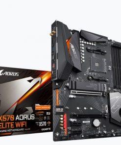 GA-X570-AORUS-ELITE-WIFI-Gigabyte X570 AORUS ELITE WIFI Ryzen AM4 ATX Motherboard 4xDDR4 4xPCIE 2xM.2 Realtek® ALC1200 HDA Intel GbE LAN 6xSATA 1xUSB-C 10xUSB3.2