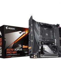 GA-X570-I-AORUS-PRO-WIFI-Gigabyte X570I AORUS PRO WIFI Ryzen AM4 ATX MINI ITX Motherboard 2xDDR4 3xPCIe 4.0 1xM.2 RAID GbE LAN WIFI BT CrossFire RGB 1xUSB-C 7xUSB3.2