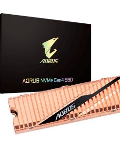 GP-ASM2NE6100TTTD-Gigabyte Aorus M.2 PCIe NVMe Gen4 SSD 1TB - 3D NAND TLC 5000/4400 MB/s 750K/700K IOPS 1.77 Mil MTBF 5yrs Wty TRIM SMART Wear Leveling Over Provision
