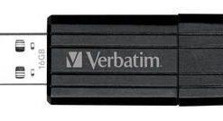 49063-Verbatim Store'n'Go Pinstripe USB Drive 16GB (Black)