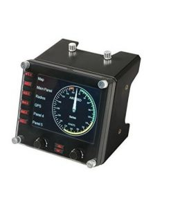 945-000027-Logitech Flight Instrument Panel Professional Simulation LCD Multi-instrument Controller