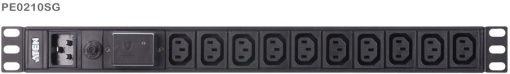 PE0210SG-AT-G-Aten 10 Port 1U Basic PDU with Surge Protection