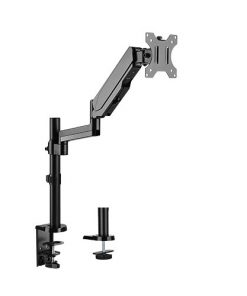 """LDT16-C012-Brateck Single Monitor Full Extension Gas Spring Single Monitor Arm 17"""" - 32"""" Up to 8Kg Per screen"""