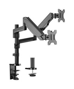 """LDT16-C024-Brateck Dual Minitor  Full Extension Gas Spring Dual Monitor Arm (independent Arms) for 17""""-32"""""""