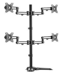 LDT30-T048-Brateck Quad Monitor Premium Articulating Aluminum Monitor Stand