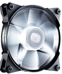 R4-JFDP-20PW-R1-Coolermaster Jetflo 120mm 4Pin PWM Case Fan with White LED
