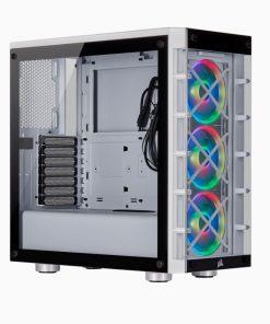 CC-9011189-WW-Corsair  iCUE 465X RGB WHITE (LL120 RGB Fan) Mid-Tower ATX Smart Case V2