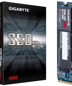 GP-GSM2NE3128GNTD-Gigabyte M.2 PCIe NVMe SSD 128GB V2 1550/550 MB/s 100K/130K IOPS 2280 80mm 1.5M hrs MTBF HMB TRIM & S.M.A.R.T Solid State Drive 5yrs Wty