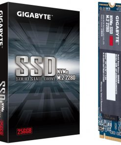 GP-GSM2NE3256GNTD-Gigabyte M.2 PCIe NVMe SSD 256GB V2 1700/1100 MB/s 180K/250K IOPS 2280 80mm 1.5M hrs MTBF HMB TRIM & S.M.A.R.T Solid State Drive 5yrs Wty