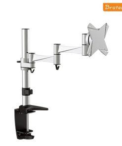 "LDT02-C012-Brateck Single Monitor Flexi legant aluminium LCD VESA desk Arm Mount Up to 27"""