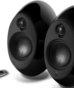 E25HD-BLACK-Edifier E25HD LUNA HD Bluetooth Speakers Black - BT 4.0/3.5mm AUX/Optical DSP/ 74W Speakers/ Curved design/Dual 2x3 Passive Bass/Wireless Remote