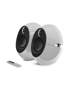 E25HD-WHITE-Edifier E25HD LUNA HD Bluetooth Speakers White - BT 4.0/3.5mm AUX/Optical DSP/ 74W Speakers/ Curved design/Dual 2x3 Passive Bass/Wireless Remote