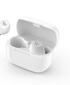 TWS1-WHITE-Edifier TWS1 Bluetooth Wireless Earbuds - WHITE/Dual BT Connectivity/Wireless Charging Case/12 hr playtime/9 hr Charge/8mm Magnetic Driver