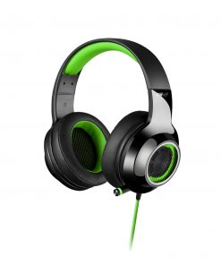 V4-GREEN-Edifier V4 (G4) 7.1 Virtual Surround Sound USB Gaming Headset Green - V7.1 Surround Sound/ Retractable Mic/LED Lights Mesh/USB/Gaming/PC/Laptop
