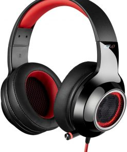 V4-RED-Edifier V4 (G4) 7.1 Virtual Surround Sound USB Gaming Headset Red - V7.1 Surround Sound/ Retractable Mic/LED Lights Mesh/USB/Gaming/PC/Laptop