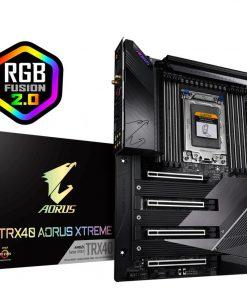 GA-TRX40-AORUS-XTREME-New Gigabyte TRX40 Aorus Xtreme XL-ATX MB sTRX4 AMD ThreadRipper 3 8xDDR4 4xPCIe 4xM.2 RAID Intel GbE LAN WiFi BT 10xSATA CF/SLI 2xUSB-C 11xUSB3.2 RGB
