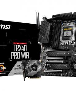 TRX40 PRO WIFI-MSI TRX40 PRO WIFI ATX MB TR4 AMD ThreadRipper 2 8xDDR4 5xPCIe 2xM.2 RAID 2xIntel GbE LAN WiIFi BT CF/SLI 13xUSB3.2 4xUSB2.0 8xSATA RGB