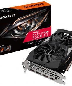 GV-R55XTOC-8GD-Gigabyte AMD Radeon RX 5500 XT OC 8G GDDR6 PCIe 4.0 Graphic Card 8K 7680x4320@60Hz 4xDisplays 3xDP HDMI 1845/1647MHz 7nm FreeSync