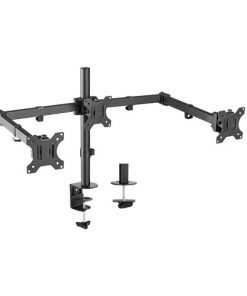 LDT12-C034N-Brateck Triple Screens Economical Double Joint Articulating Steel Monitor Arms