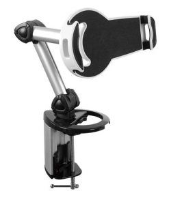 "PAD18-02-Brateck 2-IN-1 Aluminum Tablet Desk Clamp Holder (Desk Stand/Wall Mount) For Most 7""-10.4"" Tablets"