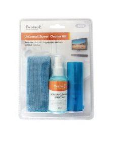 SC-1-Brateck 3-In-1 Screen Cleaner Kit 1 x 60ml Screen Cleaner + 1 x 200x200mm Pearl Cloth + 1 x Soft Brush