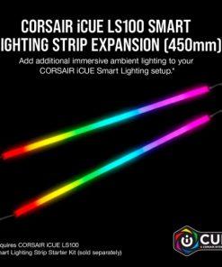 CD-9010001-WW/LL-Corsair  iCUE LS100 Smart Lighting Strip Expansion Kit 2x 450mm Addressable LED Strip